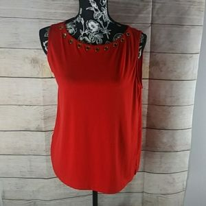 Red used woman dress shirt